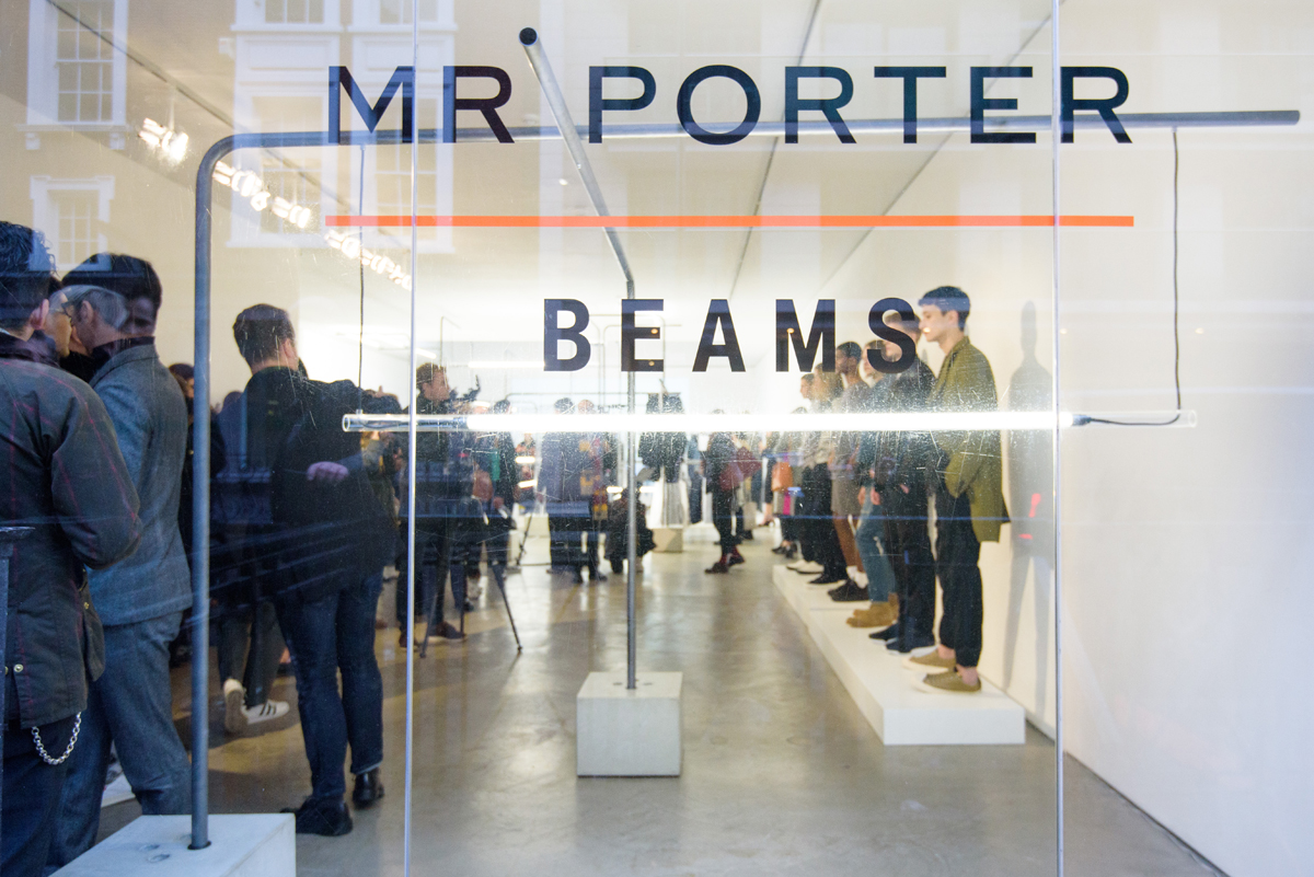 MR PORTER x BEAMS Exhibition Design @ London